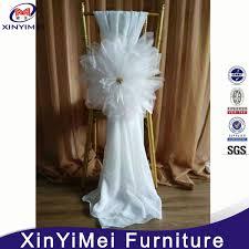 Chiffon Chair Sash China Elegant Fancy White Chiffon Organza Flower Chair Sashes