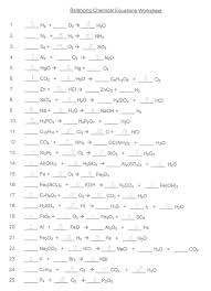 balancing chemical equations worksheet answer key printable