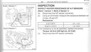 toyota check engine light codes 1999 toyota avalon calf w check engine light codes p0125 and