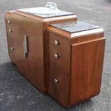 Ft Art Deco Marble Bathroom Vanity Sink Cabinet Art Deco - Bathroom sink cabinet ebay