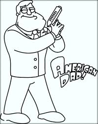american dad coloring pages color zini
