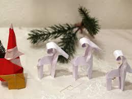 Origami Christmas Decorations Reindeer by Origami Strip Reindeer