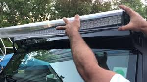 52 inch curved light bar cover aerolidz aerodynamic 50 inch led light bar cover youtube