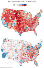 Map Election by U S Presidential Election Results In Two Maps 2016 Vivid Maps