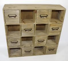 Multi Drawer Wooden Cabinet Geko 51 X 13 X 51 Cm Multi Drawer Storage Unit Square Handle