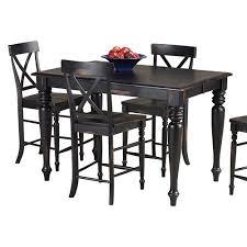 imagio home roanoke gathering table rubbed black walmart com
