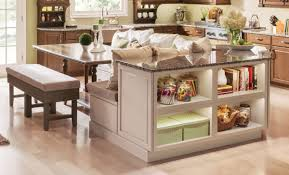kraftmaid u0027s open shelving in chai with cocoa glaze provides