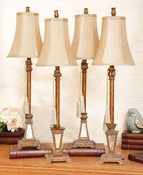 Buffet Lamps With Black Shades by Cbk Styles 54392 Assorted Four Buffet Lamp With Mirrored Bases