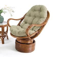 Papasan Patio Chair Furniture Glamour Brown Wicker Papasan Chair With Grey Tufted