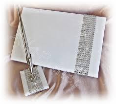 wedding guest book and pen rhinestone mesh wedding guest book and pen bling wedding guest