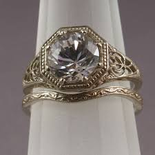 filigree wedding band antique filigree wedding band engagement ring set ws5 ebay