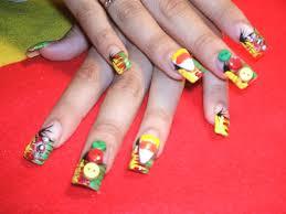 a rasta halloween nail art gallery