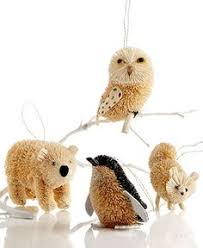 martha stewart set of 4 forest friends buri animal ornaments