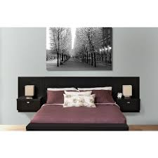 Bed And Nightstand Set Prepac Series 9 1 Piece Black Queen Bedroom Set Bhhq 0520 2k The