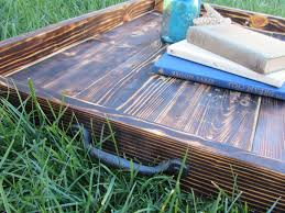 Made Ottoman by Hand Made Wood Ottoman Tray Made From Reclaimed Pallet Wood