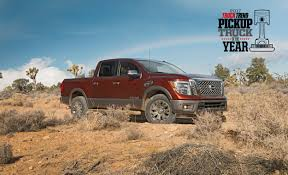 nissan rogue yahoo auto nissan titan named truck trend u0027s 2017 pickup truck of the year