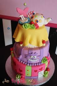 birthday cake baby shower mad hatter boy purple pink yellow