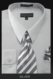 men u0027s dress shirt premium tie silver