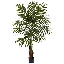 6 foot artificial robellini palm tree on black pot for home garden