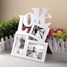 Home Wall Display Love White Base Photo Collage Picture Holder Display Frame Art