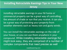 Retractable Awnings Nj Installing Retractable Awnings Tips In Your New Jersey