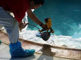 Stain Old Concrete Patio by How To Resurface A Pool Patio How Tos Diy