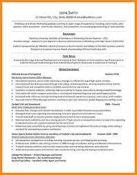 internship resume examples university student resume example