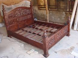wood furniture bed design