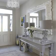 crystal chandelier hall hall shabby chic style with ceramic dog