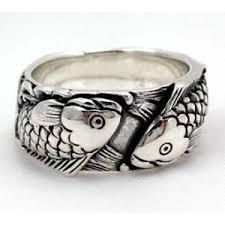 unique mens rings unique sterling silver koi mens engagement rings