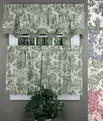 Toile Cafe Curtains Toile Kitchen Curtain Toile Curtains And Valances