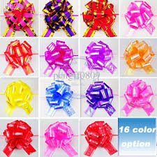 pull bows wholesale size l 50mm bowknot pull bows rainbow shiny ribbons flowers