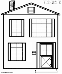 house coloring pages coloring pages to download and print