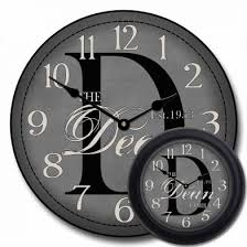 personalized anniversary clocks personalized anniversary clock monogram gifts for couples