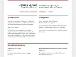 Set Up A Resume James Wood Consulting Gavin Wray