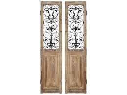 paragon rustic doors 2 panel room divider two piece set pad9407
