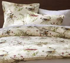 winter bird duvet cover u0026 sham pottery barn bedrooms