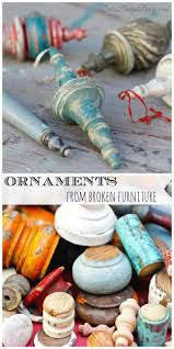 christmas ornaments from broken furniture take this make that