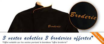 tablier de cuisine personnalisé photo veste de cuisine personnalisée brodée broderie manelli