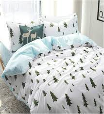 nordic style 100 cotton 60 s yarn pine tree forest boys
