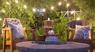 decor u0026 tips decorative water fountains and firepit with patio