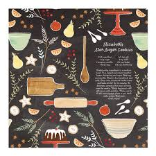 personalized wrapping paper customizable recipe wrapping paper sugar spice personalized