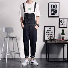 mens one jumpsuit 2018 wholesale one black jean jumpsuits for