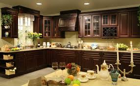 Brown Cabinets Kitchen Dark Kitchen Cabinets Wood Floors Amazing Perfect Home Design