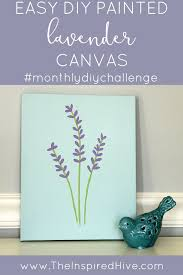 monthly diy challenge painted lavender canvas easy diy how to