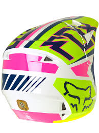 childrens motocross helmet fox navy white 2017 v1 falcon kids mx helmet fox