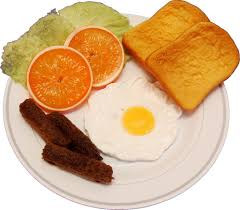 egg plate fried egg and sausage plate food decorcentral flora