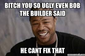 Ugly Bitch Meme - you so ugly even bob the builder said