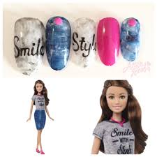 azusa barbie nails for barbie fashionistas doll smile with style