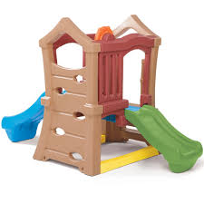 play up double slide climber kids climber step2